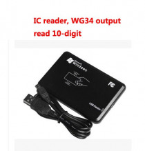 Free shipping by DHL ,RFID reader, USB assign reader, IC card reader ,13.56M,Read 10-digit,wg34 output ,sn:06C-MF-10 ,min:20pcs