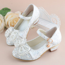 Hot Sale Autumn Girls Leather Shoes Girl Party Kids Girl Dance Princess Shoes Flower Children Wedding Shoes