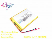Liter energy battery 357095 3.7V 4000mah (polymer lithium ion battery) Li-ion battery for tablet pc 7 inch MP3 MP4 357096