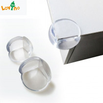 10pcs/lot Rubber Ball Transparent L Shape Baby Safety Silicone Corner Protector Kids Soft Clear Table Desk Edge Corner Guards