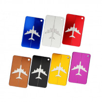 LJL-Metal Travel Bag Tags Luggage Tag Boarding Creative Card Aircraft Luggage Tags Suitcase ID Address Name Tag