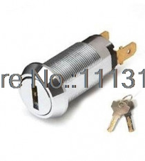 High Security Flat Brass key Switch Lock for game cash machine 19MM OFF/ON Electronic Power Lock for Vending Machine 1 PC