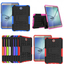 HH Heavy Duty Armor Tire Style Hybrid TPU PC Hard Cover Case for Samsung GALAXY Tab S2 8.0'' SM T710 T715 T713 T719 tablet PC