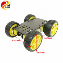 DOIT New Arrival metal robot  4wd car chassis C101 with four TT motor wheel for arduino uno r3 diy maker eduational teaching kit