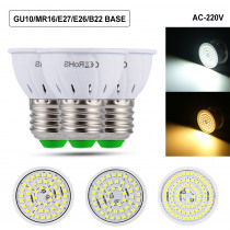 LED Spot light Bulb GU10/MR16/B22/E14/E27 220V 5W/7W/9W LED Corn Lamp SMD 2835 Spot Light 230V 240V Energy Saving  Bombillas