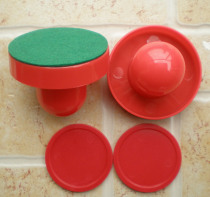 FREE SHIPPING Air hockey table red 2pcs 67mm Goalies Mallets Felt Pusher 2pcs 50mm Puck 671