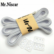 Mr.Niscar 1Pair 110cmX0.6cm Adult Children White Elastic Shoelaces for Sneaker Casual Shoes No Tie Laces Shoe Kids Accessories