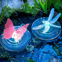 Color-Changing LED Garden Solar Light Outdoor Waterproof Dragonfly/Butterfly Solar LED For Garden Decoration Path Lawn Lamp