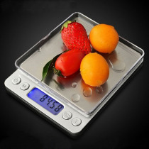 Digital Kitchen Scale 3000g/0.1g 500g/0.01g Stainless Steel Precision Jewelry Electronic Balance Weight Gold Grams Measure Tool