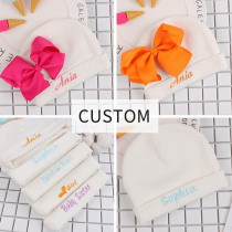 Customized Newborn Baby Hat Cute Bear Rabbit Hat With Baby's Name Special Gift For Newborn Boys Girls