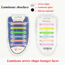 12 pcs/Set Silicone Light up Fashion LED Luminous Shoelaces Flash Party Glowing Shoe Lace Shoestrings Lazy No Tie Shoeslace L4