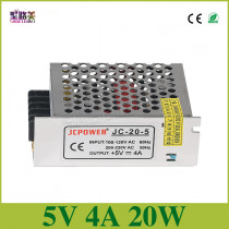 free shipping 5V 4A 20W Switching Power Supply for DC5V WS2811 WS2812B ws2801 led strip light DC5V Driver led power