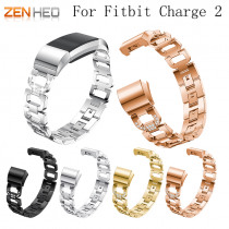 ZENHEO Watch Band Stainless Steel Metal For Fitbit charge 2 WatchBand Strap Bracelet for Fitbit Charge 2 Smart Watch Women Men
