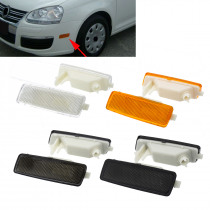 2Pcs Front Side Marker Light Signal Lamps For VW for GTI for JETTA for RABBIT MK5 2006 2007 2008 2009 White Black Yellow Grey