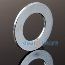 OMO Magnetics 5PCS Big Super Strong Countersunk Ring Magnets Disc 50mm x 3mm Hole 28mm Rare