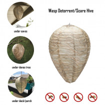 Flying Hanging Wasp Bee Trap Fly Insect Simulated Wasp Nest Effective Safe Non-Toxic Hanging Wasp Deterrent  for Wasps Hornets