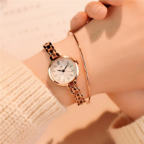Women's Fashion Luxury Gold Bracelet Ladies Wrist Watch Full Stainless Steel Casual Women Watches Simple Small Female Clock