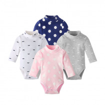 Baby Clothing Newborn Body Baby Rompers Triangle Long Sleeve Cotton Jumpsuit turtleneck Infant Pajamas Baby Boy Girl Clothes