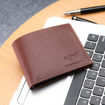 Kangaroo Wallet Ultra-thin Men's Wallet Soft Leather Short High Quality