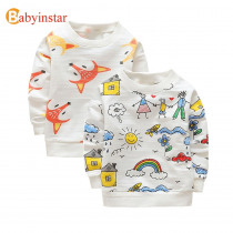Babyinstar 2019 New Autumn Children Clothe Baby Boys Hoodies & Sweatshirts Baby Girl's  Clothing Tops Toddler Outfit