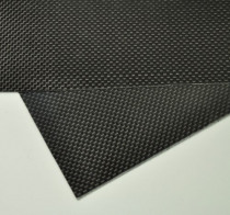100mmX250mmX0.3mm 100% Carbon Fiber plate panel sheet 3K plain Weave Glossy