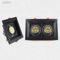 Square Dimmable Recessed LED Downlights 10W20W30W COB LED Ceiling Lamp AC85-265V Warm/Cold White LED Spot Lights Indoor Lighting