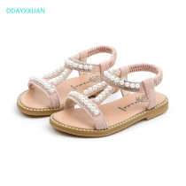 Girls Princess Sandals Rhinestone New Toddler Summer Pearls Kids Sandals Children Party Shoes for Baby girl Beach Sandals