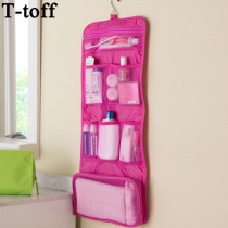 New Arrival women man portable foldable travel Cosmetic case hanging toiletry bags bathroom storage bag organizer make up bag