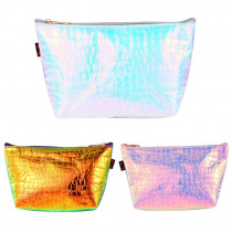 THINKTHENDO New Hologram Holographic Pencil Pen Case Bag Cosmetic Makeup Storage Bags Purse 2018 Fashion Make Up Bag for Girl