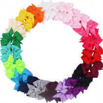 40pcs /20pcs Cute Baby Girls Hair Bows For Kids Hair Bands Alligator Hair Clips Baby Girls