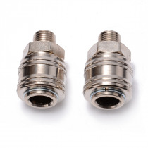 2pcs 1/4 BSP Male Line Hose Connector Euro Female Quick Release Fitting Coupling Set For Air Compressor