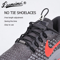 1 Pair Reflective Elastic Shoe Laces No Tie Shoelaces with Metal Turnbuckle for Sneakers for Kids and Adults