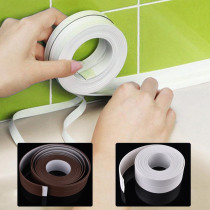 1 ROLL Waterproof Mold Proof Adhesive Tape Durable Use PVC Material Kitchen Bathroom Wall Sealing Tape Sticker Gadget 3.2mx3.8cm