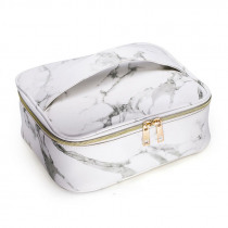 Marble Pattern PU Travel Cosmetic Makeup Bag Toiletry Case Pouch Wash Organizer Storage