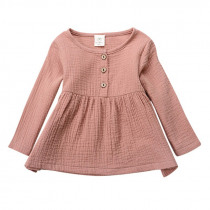 Baby Girls Clothing Spring Autumn Girls Top Tops Clothes Long Sleeve Baby Girl Shirts Solid Kids Girl Clothes
