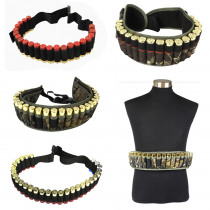 Hunting 12/20 Gauge Ammo Holder Belt Tactical Airsoft 25/28/29Rounds Shot Gun Shell Bandolier Waist Bullet Cartridges Holster