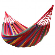 HOT-rainbow Outdoor Leisure Single canvas Hammocks Ultralight Camping Hammock with backpack Each package includes a hammock