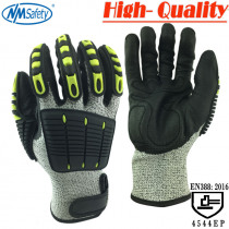 NMSafety Work Protective Gloves Cut-resistant & Anti Vibration Safety Gloves HPPE+Anti Cut & Shock Gloves
