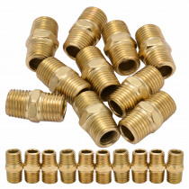 10pcs Gold Air Line Hose Connector  1/4 BSP Male Thread Euro Fitting Quick Release Set with Corrosion Resistance