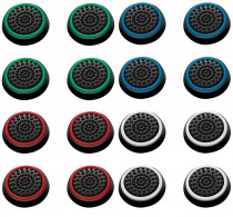 16 PCS Non-slip Silicone Analog Joystick Thumbstick Thumb Stick Grip Caps Cases for PS3 PS4 Xbox 360 Xbox One Controller