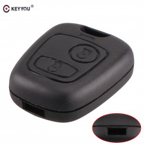 KEYYOU New Replacement 2 Buttons Remote Car Key Case Shell For Peugeot 107 207 307 407 206 306 406 Fob Cover Without Blade