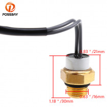 POSSBAY High Quality Motorcycle Water Temperature Radiator Fan Switch for Suzuki UX125 UH200 2007-2008 Temperature Sensor