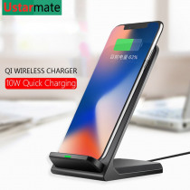 Qi Wireless Charger Stand Holder for Huawei Mate 20 Pro Mobile phone 10W Wireless Fast Charging for iPhone X Xs Samsung S8 S9