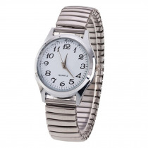 Men's Couple Wrist Watches Stainless Steel  Band Alloy Lovers Business Quartz Movement  Wristwatch Elastic Strap Band Watch