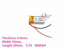 best battery brand 401020 3.7V 80mah 401221 401220 Lithium polymer 'with protection board For Bluetooth Digital Product Singapo