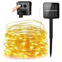 LED Outdoor Solar Lamp String Lights 200 LEDs Fairy Holiday Christmas Party Garland Solar Garden Waterproof 20m