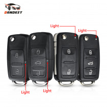 Dandkey 2/3 Buttons Car Key Folding Flip Key Shell For VW Polo Passat B5 Tiguan Golf For VOLKSWAGEN MK4 Seat Skoda Car Key Case