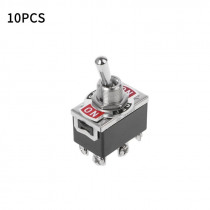 10pcs 6 Pin 3 Toggle Positions DPDT ON-OFF-ON Switch 15A 250V Mini Reverse Polarity Motor Switches Tool E-TEN1322