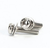 30pcs M4 stainless steel Phil-Slot screw Round head nickel plated three combination screws furniture  bolts 6mm-16mm length