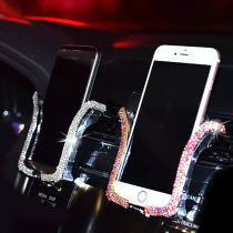 Universal Car Phone Holder with Bing Crystal Rhinestone Car Air Vent Mount Clip Cell Phone Holder for iPhone Samsung Car Holder